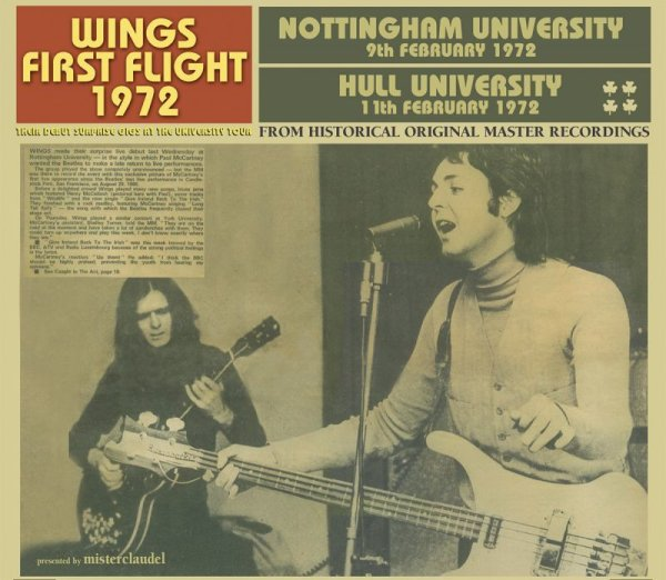 画像1: PAUL McCARTNEY / WINGS FIRST FLIGHT 1972 【2CD】 (1)
