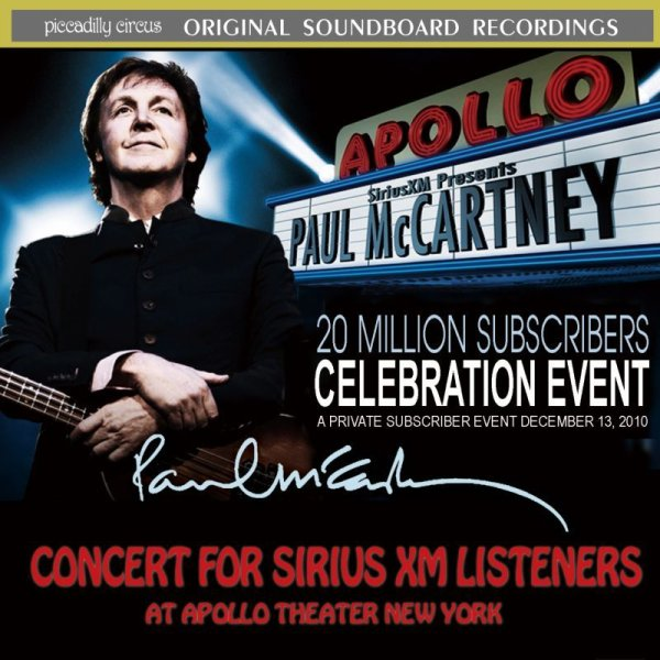 画像1: PAUL McCARTNEY / CONCERT FOR SIRIUS XM LISTENERS 【2CD】 (1)